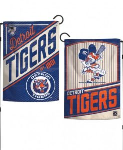 Detroit Tigers Cooperstown 12.5″x18″ 2 Sided Navy Garden Flag