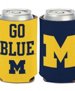 Michigan Wolverines 12 oz Slogan Maize Blue Can Koozie Holder