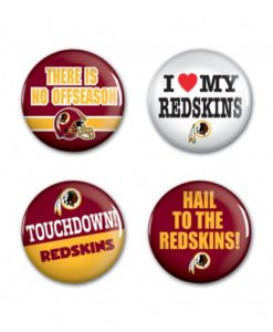"Washington Redskins 1.25"" Round Button 4 Pack"