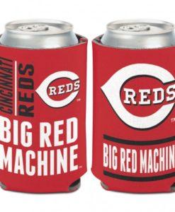 Cincinnati Reds 12 oz Red Slogan Can Koozie Holder