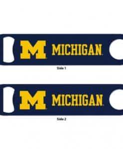 Michigan Wolverines Blue Metal Bottle Opener 2-Sided