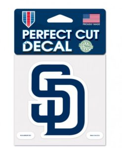 """San Diego Padres 4""""x4"""" Perfect Cut Color Decal"""