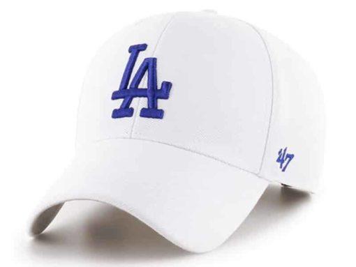 Los Angeles Dodgers 47 Brand White MVP Adjustable Hat
