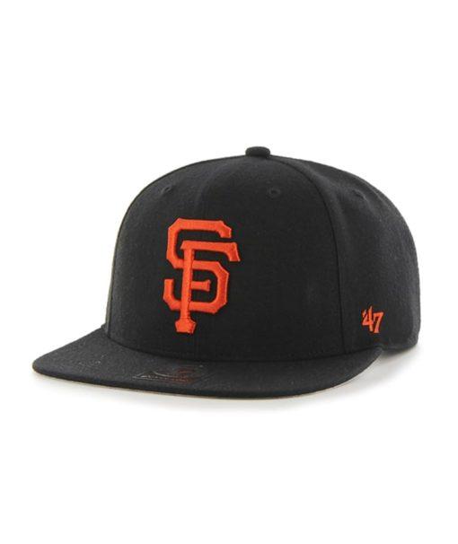 San Francisco Giants 47 Brand Black Sure Shot Snapback Adjustable Hat