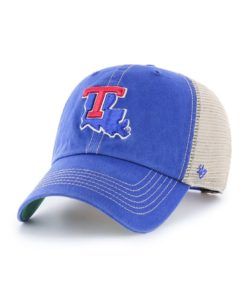 Louisiana Tech Bulldogs 47 Brand Trawler Blue Clean Up Mesh Snapback Hat
