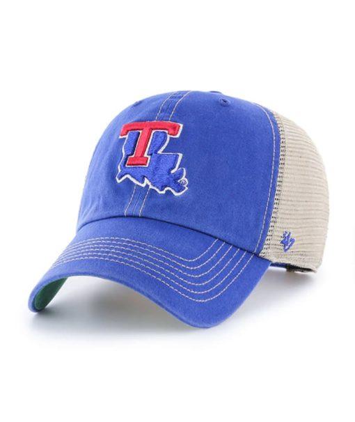 Louisiana Tech Bulldogs 47 Brand Trawler Blue Clean Up Mesh Snapback Hat