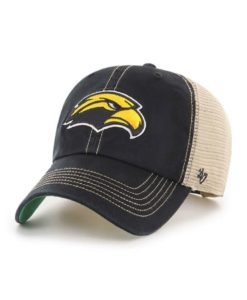 Southern Miss Golden Eagles 47 Brand Trawler Black Clean Up Mesh Snapback Hat