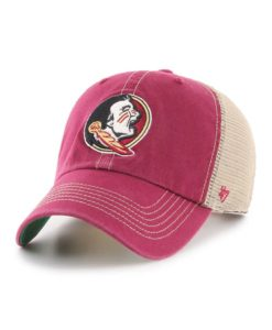 Florida State Seminoles YOUTH 47 Brand Trawler Cardinal Clean Up Mesh Snapback Hat