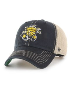 Wichita State Shockers 47 Brand Trawler Black Clean Up Mesh Snapback Hat