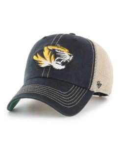 Missouri Tigers 47 Brand Trawler Black Clean Up Mesh Snapback Hat