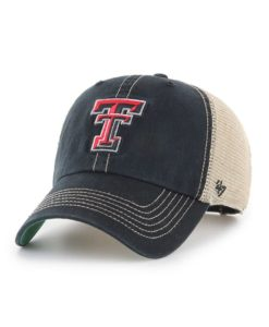 Texas Tech Red Raiders 47 Brand Trawler Black Clean Up Mesh Snapback Hat