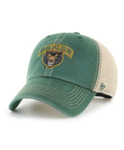 Baylor Bears 47 Brand Trawler Dark Green Clean Up Mesh Snapback Hat