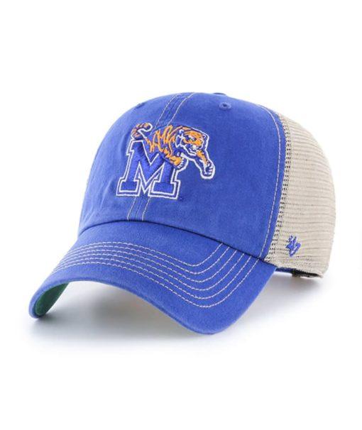 Memphis Tigers 47 Brand Trawler Blue Clean Up Mesh Snapback Hat