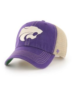 Kansas State Wildcats 47 Brand Trawler Purple Clean Up Mesh Snapback Hat