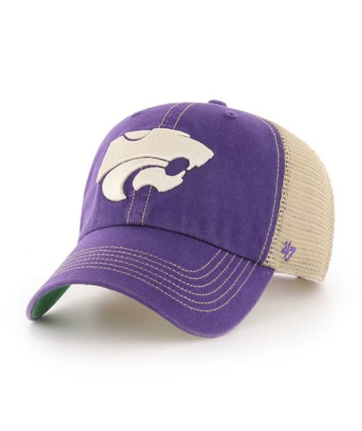 Kansas State Wildcats 47 Brand Trawler Purple Clean Up Mesh Snapback Hat