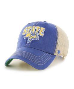 South Dakota State Jackrabbits 47 Brand Trawler Blue Clean Up Mesh Snapback Hat