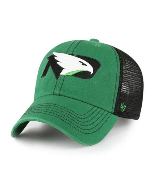 North Dakota Fighting Sioux Hawks 47 Brand Trawler Green Clean Up Mesh Snapback Hat
