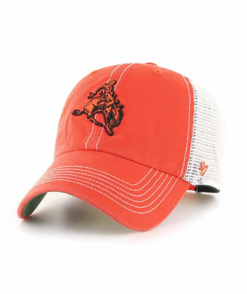 Oklahoma State Cowboys 47 Brand Trawler Orange Clean Up Mesh Snapback Hat