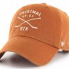 Original Six 47 Brand Burnt Orange Crossing Sticks Clean Up Adjustable Hat