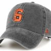 Original Six 47 Brand Washed Black Clean Up Adjustable Hat