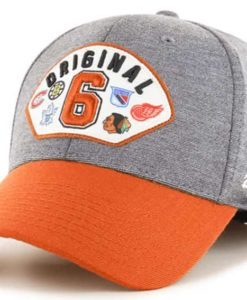 Original Six 47 Brand Gray Orange Contender Stretch Fit Hat
