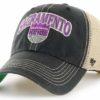 Sacramento Kings 47 Brand Vintage Black Tuscaloosa Clean Up Mesh Snapback Hat