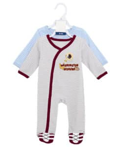 Washington Redskins Baby Boys Button Up Sleeper Coverall 2 Piece Set