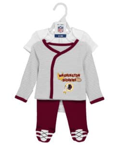 Washington Redskins Baby Boys 3 Piece Onesie, Shirt and Pants Set