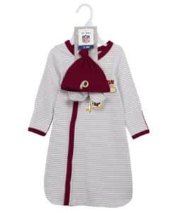 Washington Redskins Newborn Baby Gown Beanie Bootie 3 Piece Set