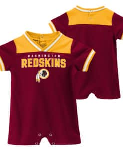 Washington Redskins Baby Boys Burgundy Romper Coverall