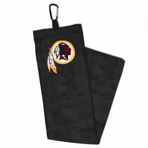 "Washington Redskins 15""x25"" Embroidered Black Golf Towel With Carabiner"