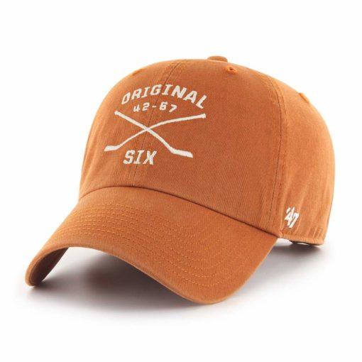 Original Six 47 Brand Vintage Burnt Orange Crossing Sticks Clean Up Adjustable Hat