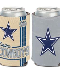 Dallas Cowboys Vintage 12 oz Blue Cream Can Koozie Holder