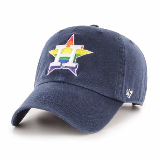 Houston Astros Pride 47 Brand Navy Clean Up Adjustable Hat