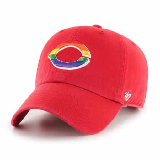 Cincinnati Reds Pride 47 Brand Red Clean Up Adjustable Hat
