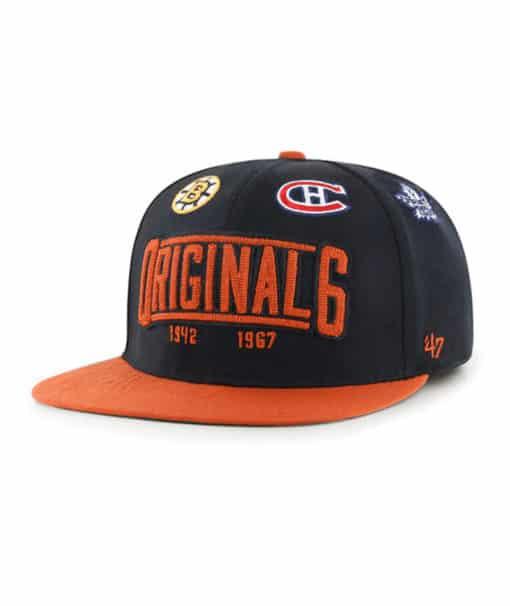Original Six 47 Brand Black Lineage Stretch Fit Hat