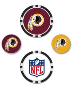 Washington Redskins Golf Ball Marker Set of 4