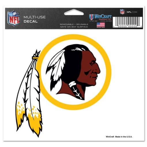 "Washington Redskins 5""x6"" Color Multi-Use Decal"