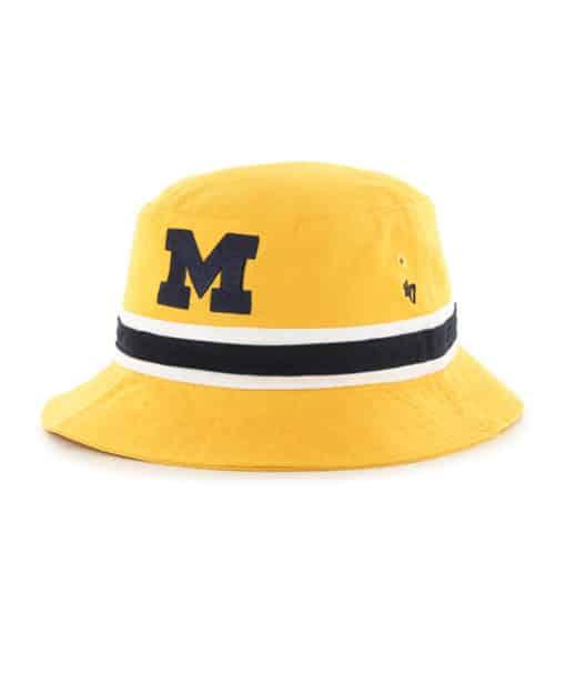 Michigan Wolverines 47 Brand Yellow Gold Striped Bucket Hat