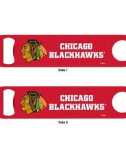 Chicago Blackhawks Red Metal Bottle Opener 2-Sided