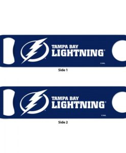 Tampa Bay Lightning Blue Metal Bottle Opener 2-Sided