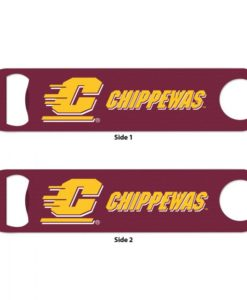 Central Michigan Chippewas Maroon Metal Bottle Opener 2-Sided