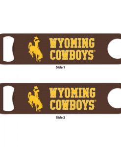 Wyoming Cowboys Brown Metal Bottle Opener 2-Sided