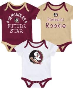 Florida State Seminoles 3 Pack Future Star Onesie Creeper Set