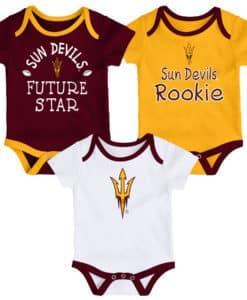 Arizona State Sun Devils Baby 3 Pack Future Star Onesie Creeper Set