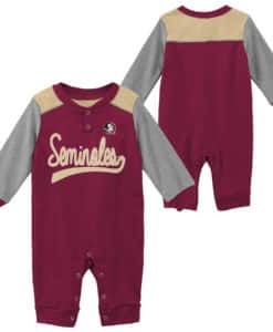 Florida State Seminoles Baby Garnet Scrimmage Long Sleeve Coverall