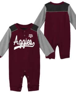 Texas A&M Aggies Baby Maroon Scrimmage Long Sleeve Coverall