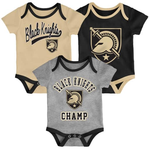 Army Black Knights Baby 3 Piece Champ Onesie Creeper Set