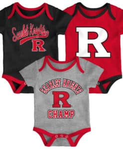 Rutgers Scarlet Knights Baby 3 Piece Champ Onesie Creeper Set