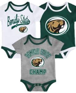 Bemidji State Beavers Baby 3 Pack Champ Onesie Creeper Set